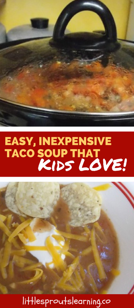 Easy, Inexpensive Taco Soup that Kids LOVE!