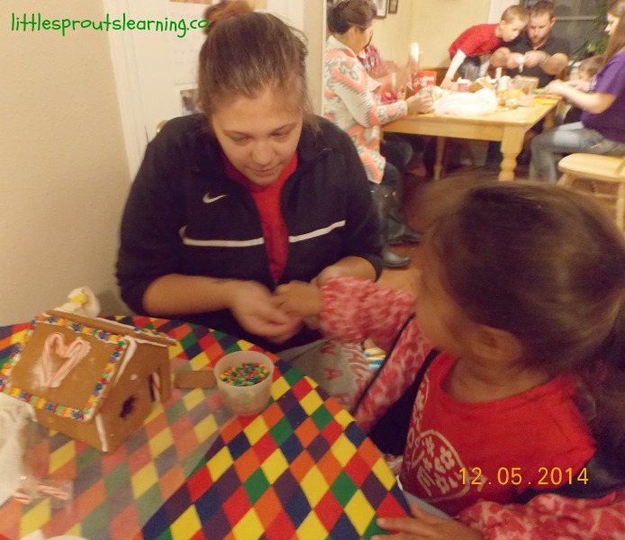 creating gingerbread with kids