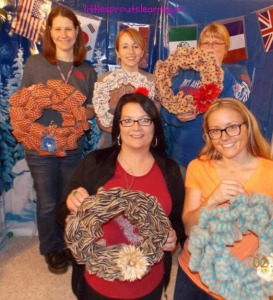 burlap wreaths moms night out