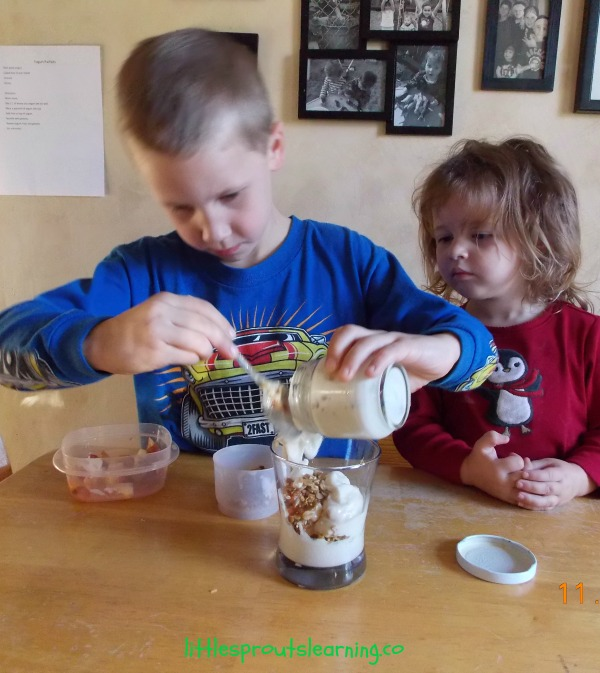 Yummy Yogurt Parfaits-Cooking with Kids!