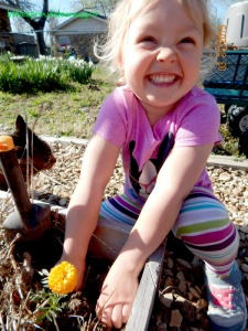 april garden chores, gardening with kids