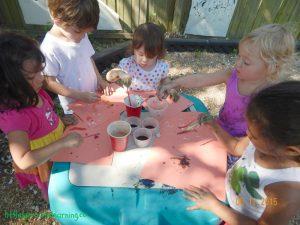 watercolor relief art for preschool
