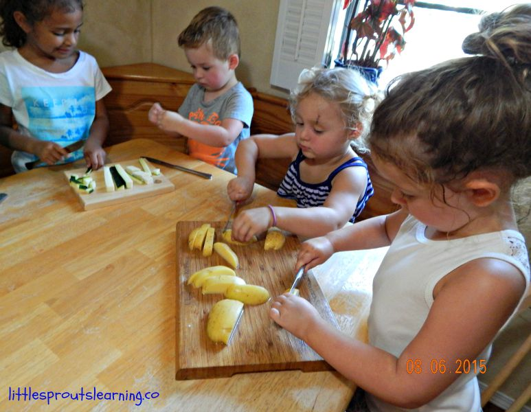 kids cooking friendship soup