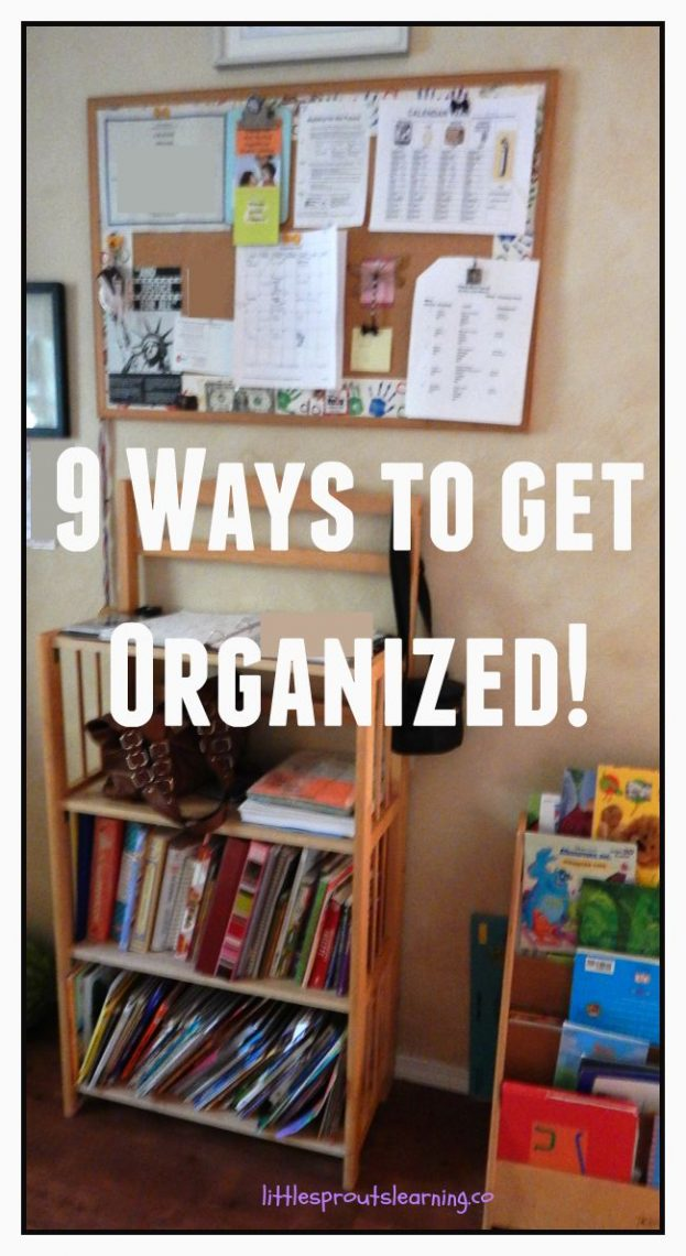 9 ways to get organized little sprouts learning. Black Bedroom Furniture Sets. Home Design Ideas