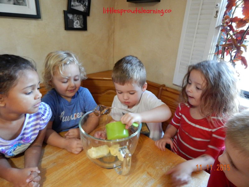 Cooking cowboy cookies with kids