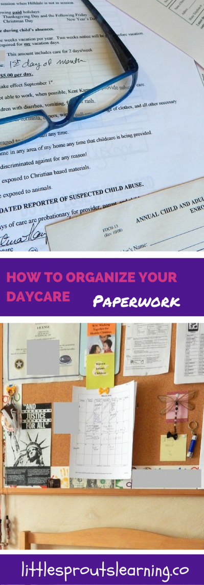How to Organize your Daycare Paperwork