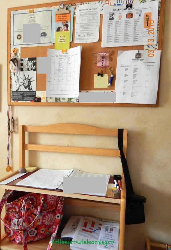 organizing daycare paperwork