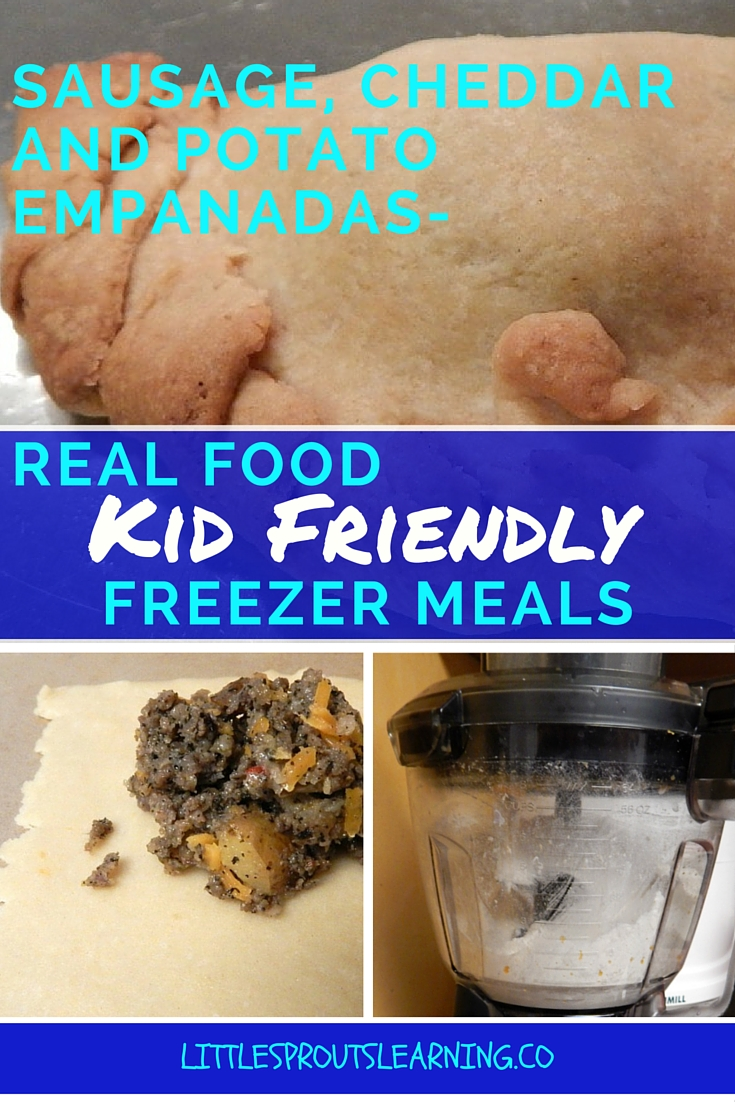 Sausage, Cheese and Potato Empanadas-Real Food, Kid Friendly Freezer Meals