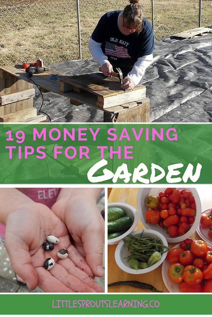 19 money saving tips for the garden little sprouts learning - Money saving tips in gardening ...