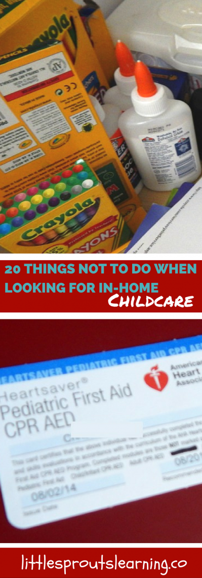 20 Things NOT to Do When Looking for In-Home Childcare