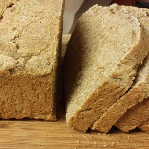 homemade bread from flour we ground from home grown wheat