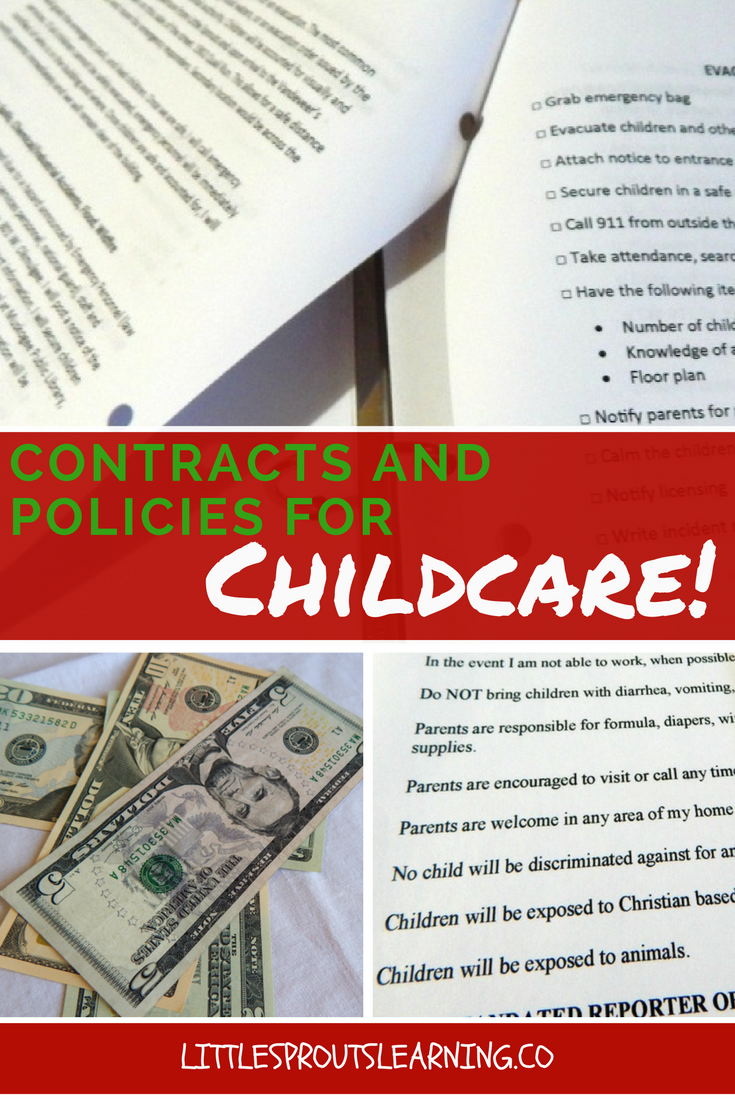 contracts and policies for childcare