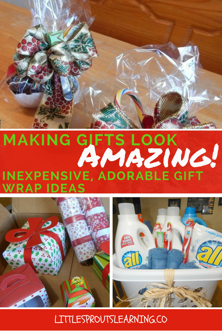 Inexpensive, adorable gift wrap ideas!