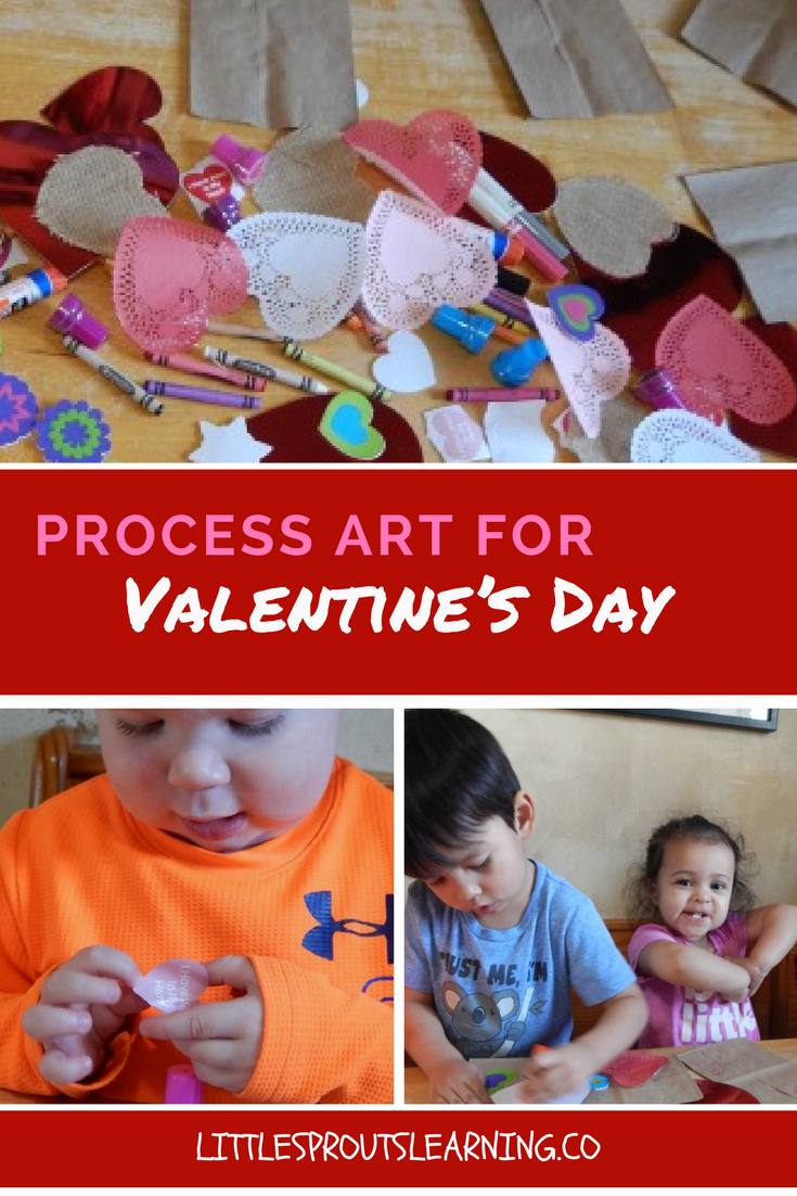 process art for Valentine's Day