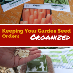 Ordering Seeds, Stay Organized
