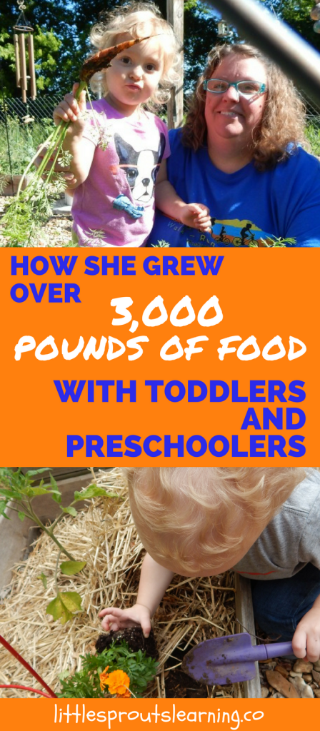How to grow food with preschoolers and toddlers