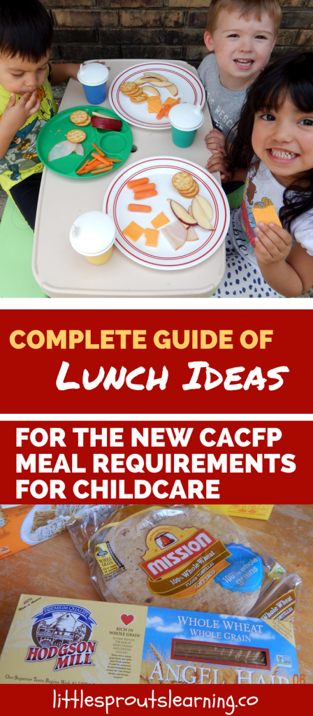 Complete Guide of Lunch Ideas for the New CACFP Meal Requirements for Childcare