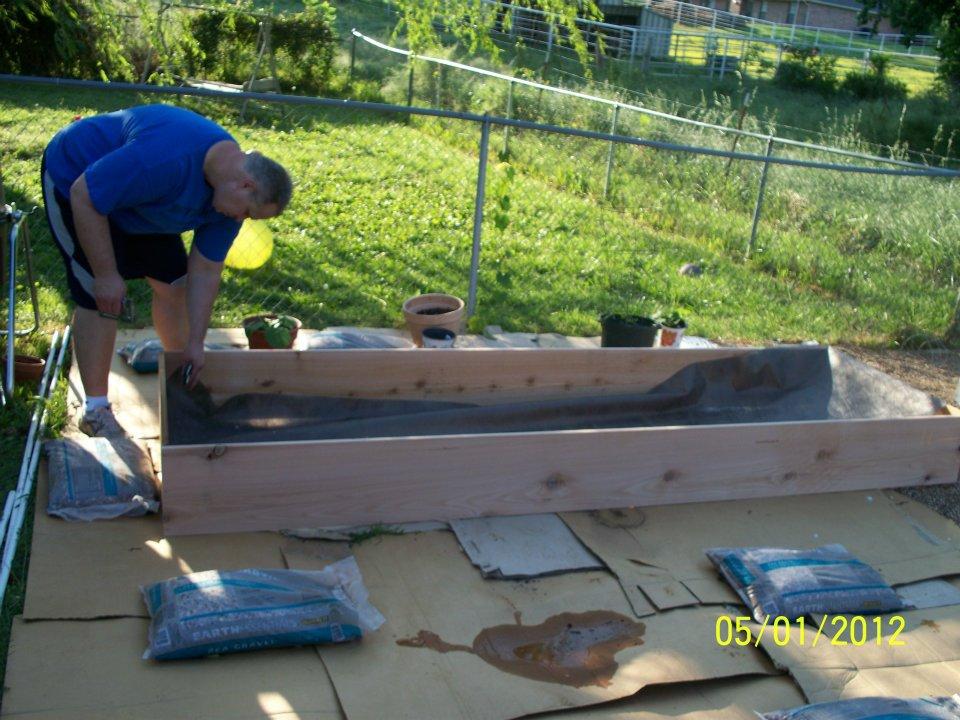 Building a children's garden raised bed