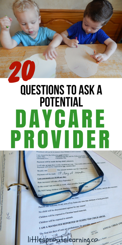 20 Questions to Ask a Potential Daycare Provider