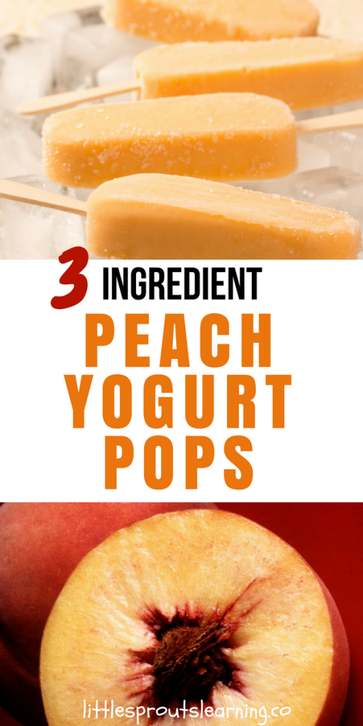 3 Ingredient Peach Yogurt Pops