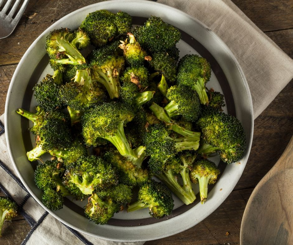 Roasting broccoli brings out a deep savory flavor like nothing else. This garlic parmesan roasted broccoli is going to change your mind about broccoli.