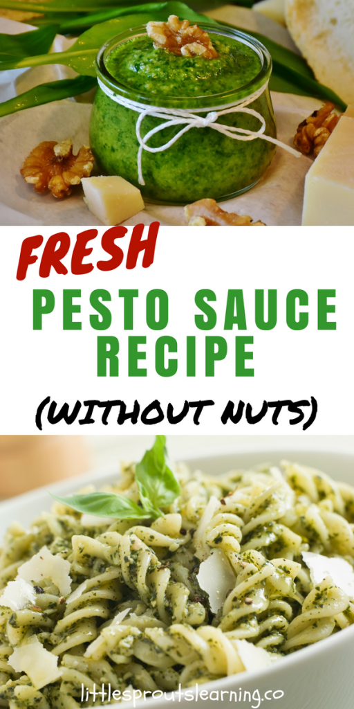 Fresh Pesto Sauce Recipe (without nuts!)