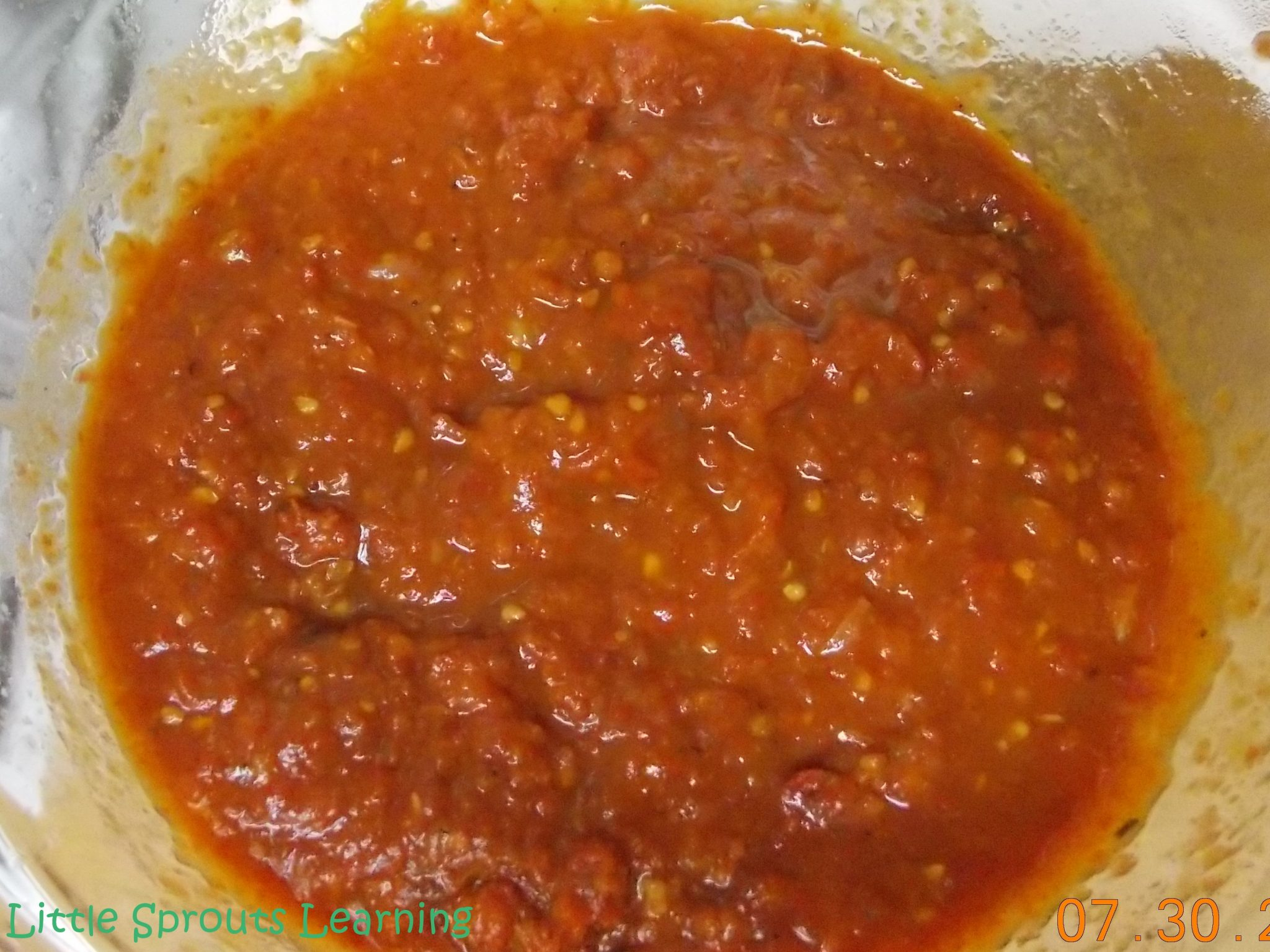 thick rich roasted tomato sauce