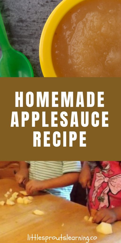 Homemade applesauce is so flavorful and can take your kid's apple learning to a whole new level of sensory experience with taste.