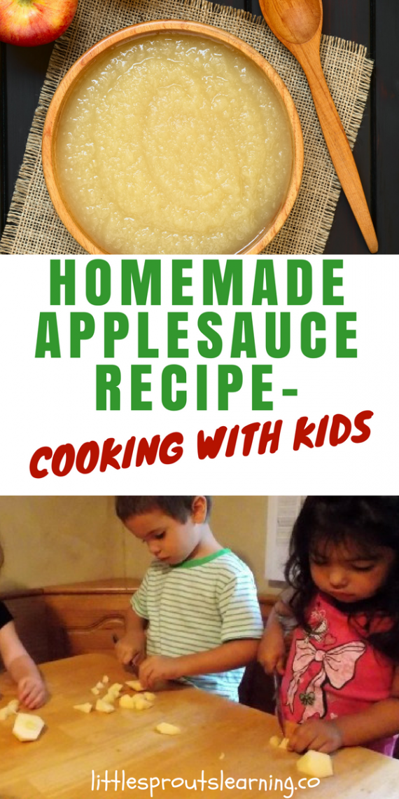 Youtube Cooking: Homemade Applesauce Recipe-Cooking With Kids