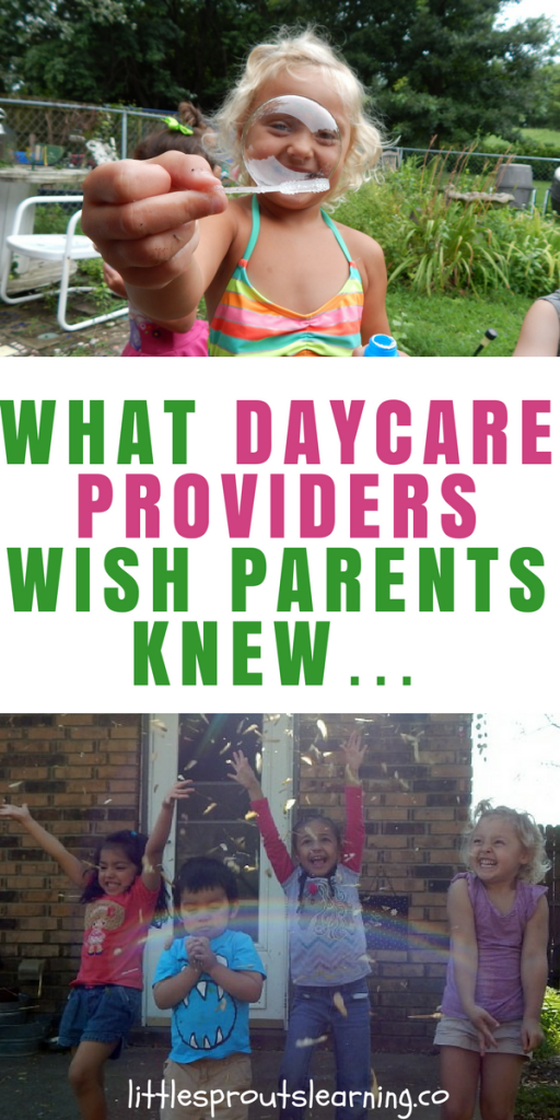 What Daycare Providers Wish Parents Knew…