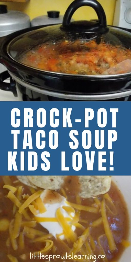 One of my kid's favorite meals is this crock pot taco soup. It's been a crowd pleaser for my daycare and family for years. They can't get enough.