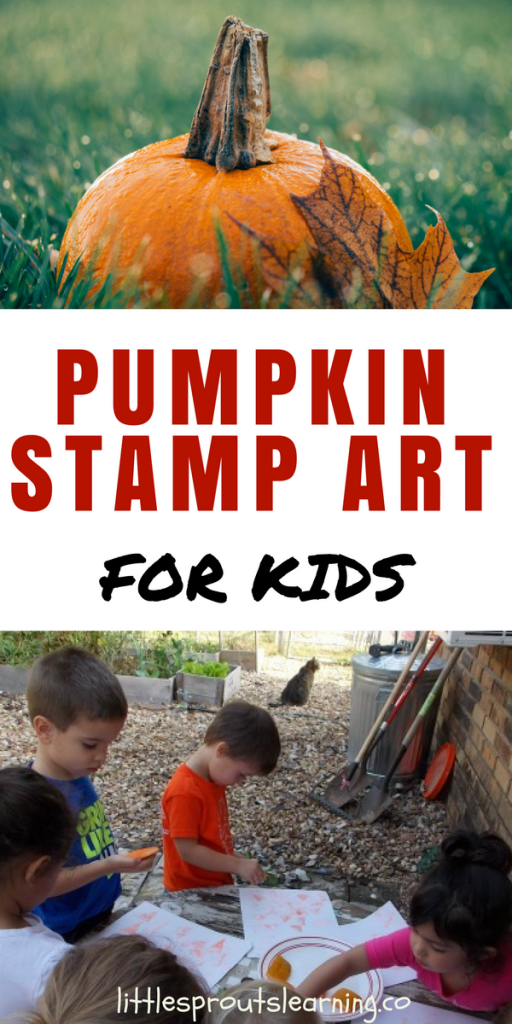 Pumpkin Stamp Art for Kids