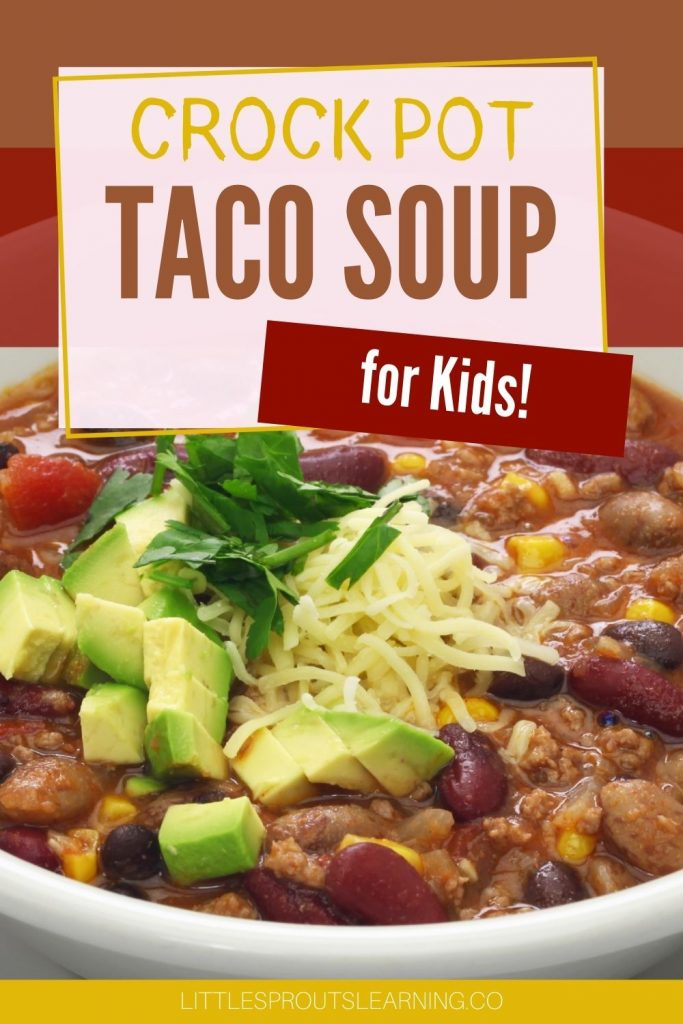 One of my kid's favorite meals is this crock-pot taco soup. It's been a crowd-pleaser for my daycare and family for years. They can't get enough.