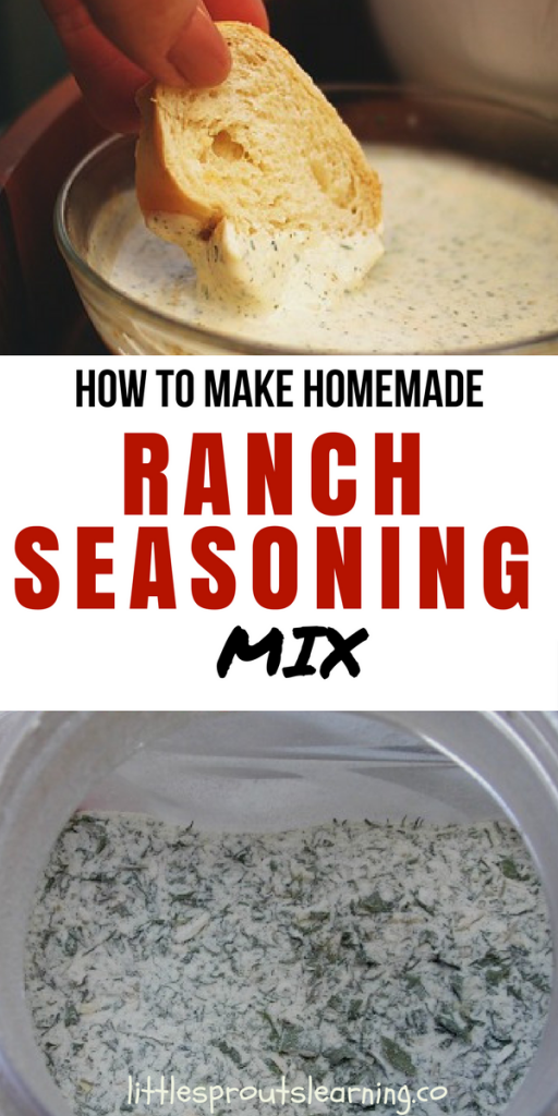 How to Make Homemade Ranch Seasoning Mix