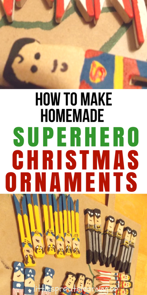 How to Make Homemade Superhero Christmas Ornaments