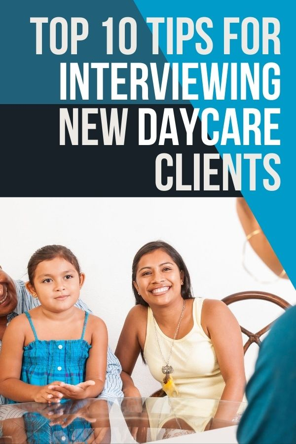 Do you wonder what to do or say when meeting new daycare parents? Check out these 10 tips for interviewing new daycare clients.