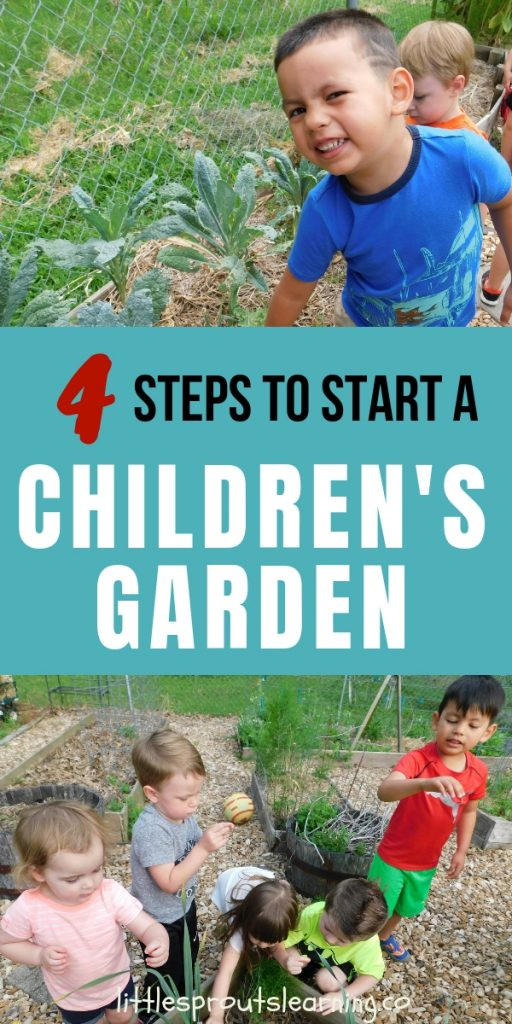 A children's garden is full of sensory experiences, science, math and so much more. Get inspired to build a daycare garden for your kids in 4 easy steps.