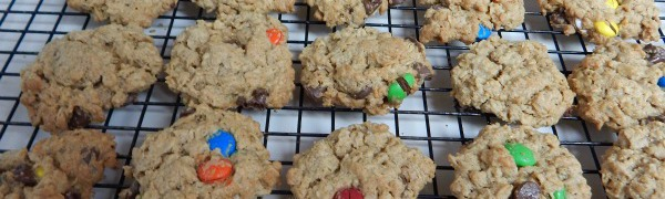 Wanna make the best cookies you ever ate? Check out this monster cookie recipe for all the cookie monsters in your life. They contain oatmeal, peanut butter, and of course, the best thing, chocolate. They are chewy on the inside, crispy on the outside and packed to the tippy top with delicious flavor!  Kids love them, adults love them, and my family can't get enough of them either.