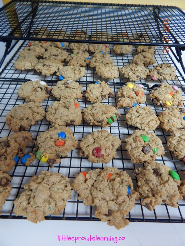 Monster Cookies, fresh from the oven