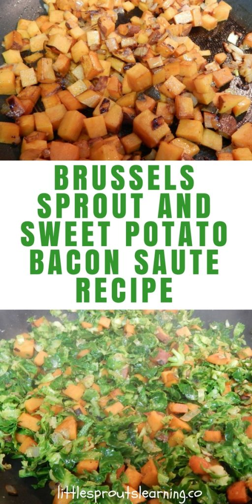 Brussels Sprout and Sweet Potato Bacon Saute Recipe