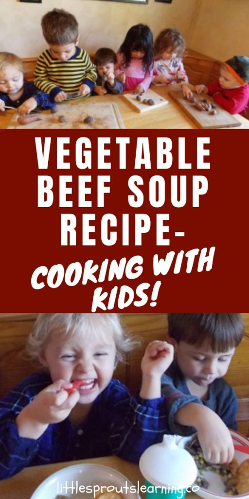 Cooking with kids is a great activity that teaches them a lot. Vegetable beef soup recipe for kids is delicious and fun to make.