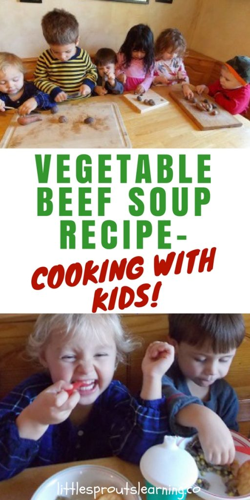 Vegetable Beef Soup Recipe-Cooking with Kids!