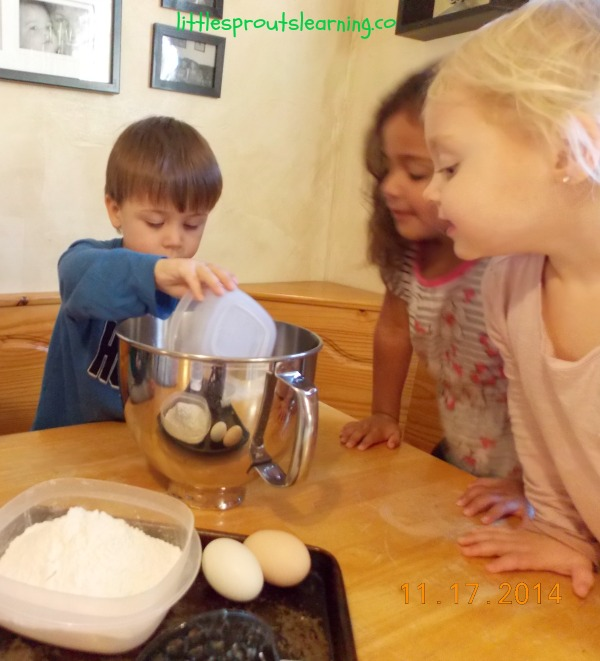 banana bread-cooking with kids