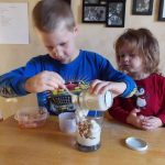 YOGURT PARFAIT RECIPE: What better snack to make with kids than healthy yogurt parfait recipe? Parfaits are fun to eat. Getting kids involved in preparing food teaches them a plethora of skills such as math, pre-reading, measuring, fine motor, and many others.