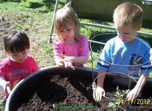 gardening with very young kids
