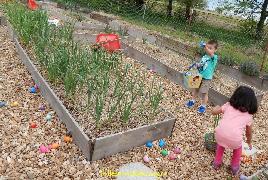 Easter egg hunt for daycare kids