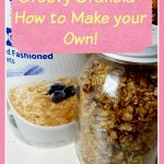 Granola is a staple in my house and I make it often. Healthy granola is a great snack to have around and this recipe is super cinchy!