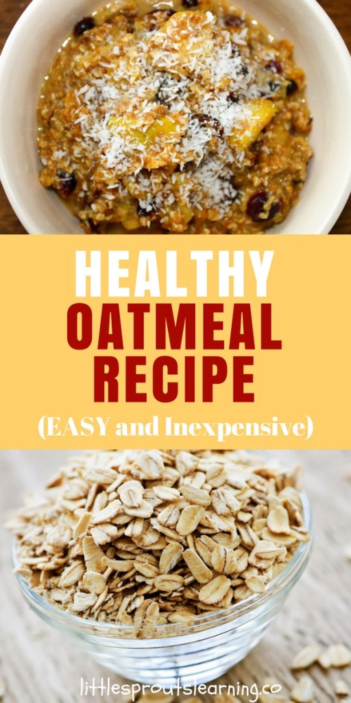 Healthy Oatmeal Recipe (EASY and Inexpensive)