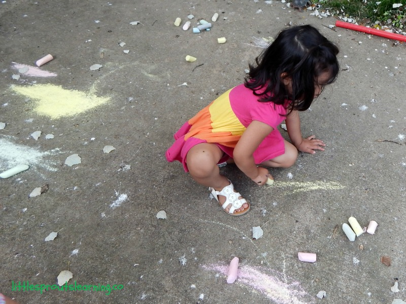 sidewalk chalk, preschool art party