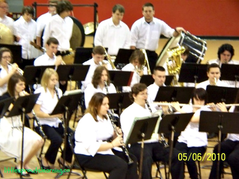 My baby girl when she was in the high school band. :)